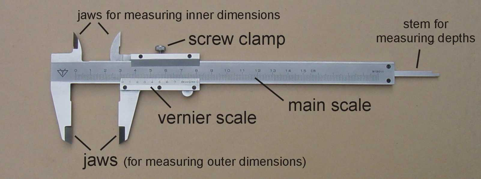 How To Use Vernier Caliper >> Using The Vernier Calipers Micrometer Screw Gauge